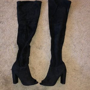 Charlotte Russe Shoes - OTK Black Boots